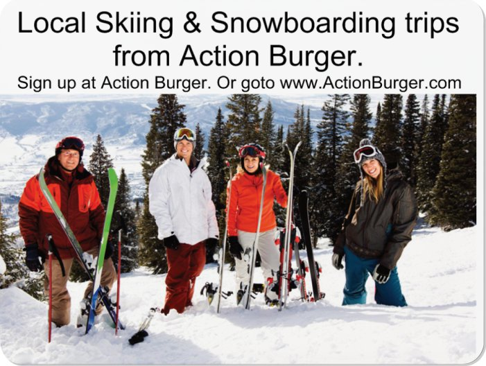Skiing & Snowboarding bus trips from Action Burger